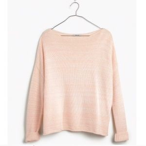 Madewell Threadmix Boatneck Boxy Fit Wool Sweater